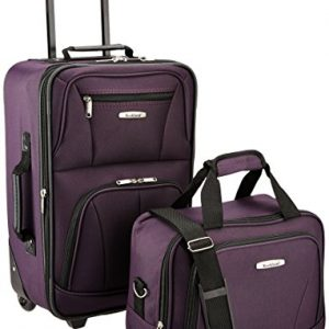 Rockland Luggage 2 Piece Set, Purple