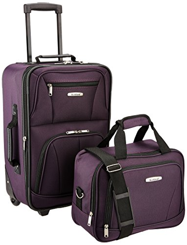 Rockland Luggage 2 Piece Set, Purple