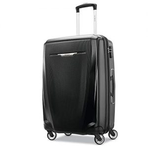 Samsonite Winfield 3 DLX Hardside Luggage, Black, Checked-Medium