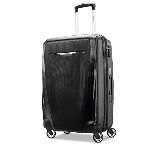 Samsonite Winfield 3 DLX Hardside Luggage, Black, Checked-Medium
