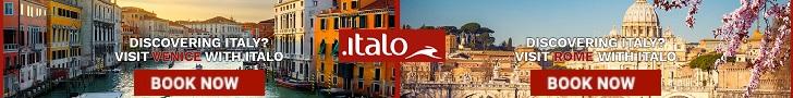 احصل على تذاكر القطار الخاصة بك وسافر في جميع أنحاء إيطاليا فقط في Italo